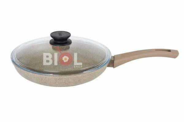Антипригарная сковорода 22 см с крышкой Оптима-Декор 22047ПС