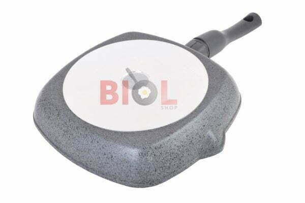Сковорода-гриль антипригарная 26 см Гранит грей Биол 26144ПС