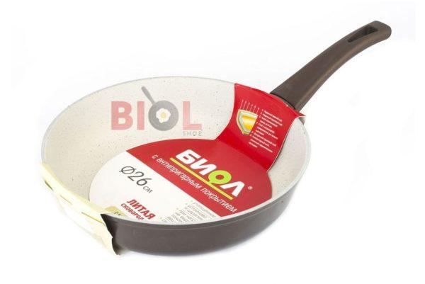 Сковородка антипригарная 26 см Классик-Декор Биол недорого онлайн