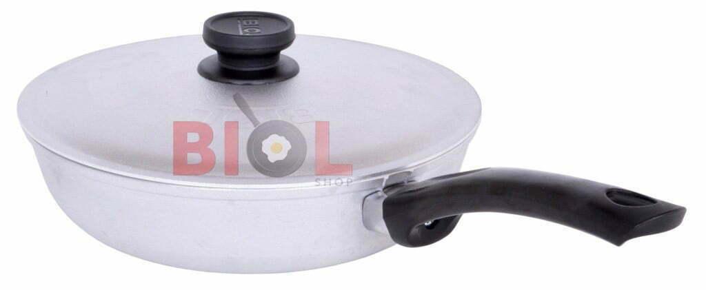 Сковорода алюминиевая рифленая 20 см Биол с крышкой купить в интернет магазине онлайн