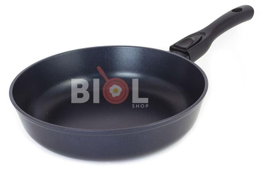 Сковорода антипригарная с крышкой 24 см купить с доставкой по Украине
