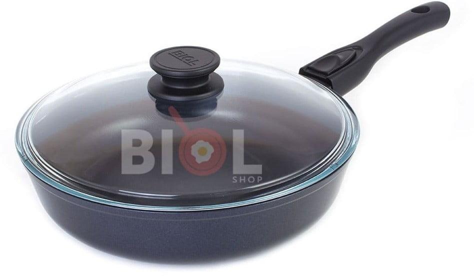 Сковорода антипригарная с крышкой 24 см лучшая цена на сайте Биолшоп