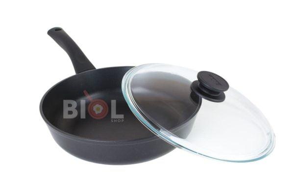 Сковорода с антипригарным покрытием 26 см Классик с крышкой купить