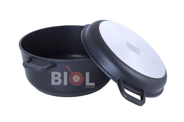 Кастрюля алюминиевая Биол с крышкой-сковородой 5 л