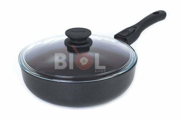 Сковорода антипригарная 22 см Элегант с крышкой выгодная цена на сайте