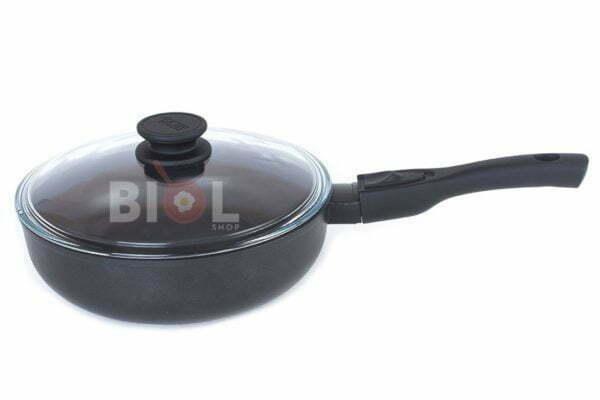 Сковорода антипригарная 22 см Элегант с крышкой 22091ПС
