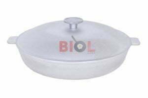 Алюминиевая сковорода с рифленым дном 30 см Биол А301
