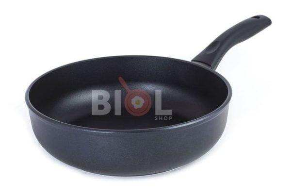 Тефлоновая сковорода с крышкой 220 мм Элегант Биол