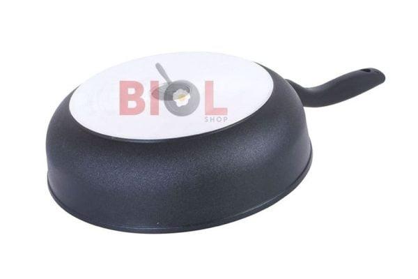 Тефлоновая сковорода с крышкой 260 мм Элегант Биол