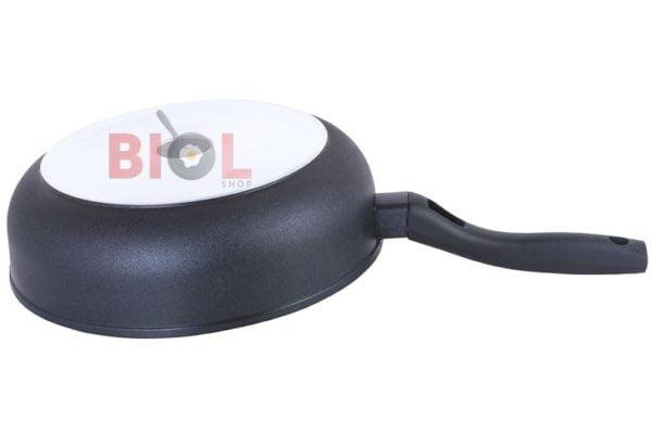 Тефлоновая сковорода с крышкой 280 мм Элегант Биол