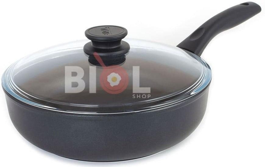 Тефлоновая сковорода с крышкой 24 см купить недорого онлайн