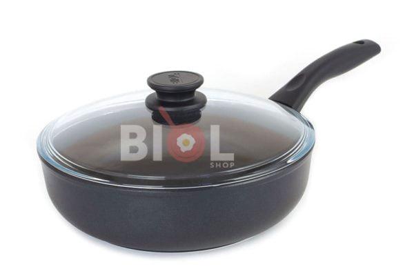 Тефлоновая сковорода с крышкой 22 см Элегант Биол
