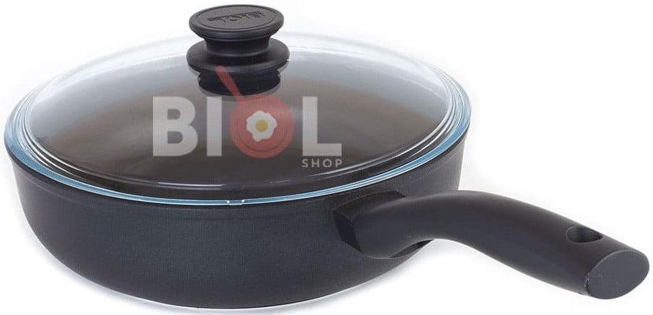 Тефлоновая сковорода с крышкой 22 см заказать недорого