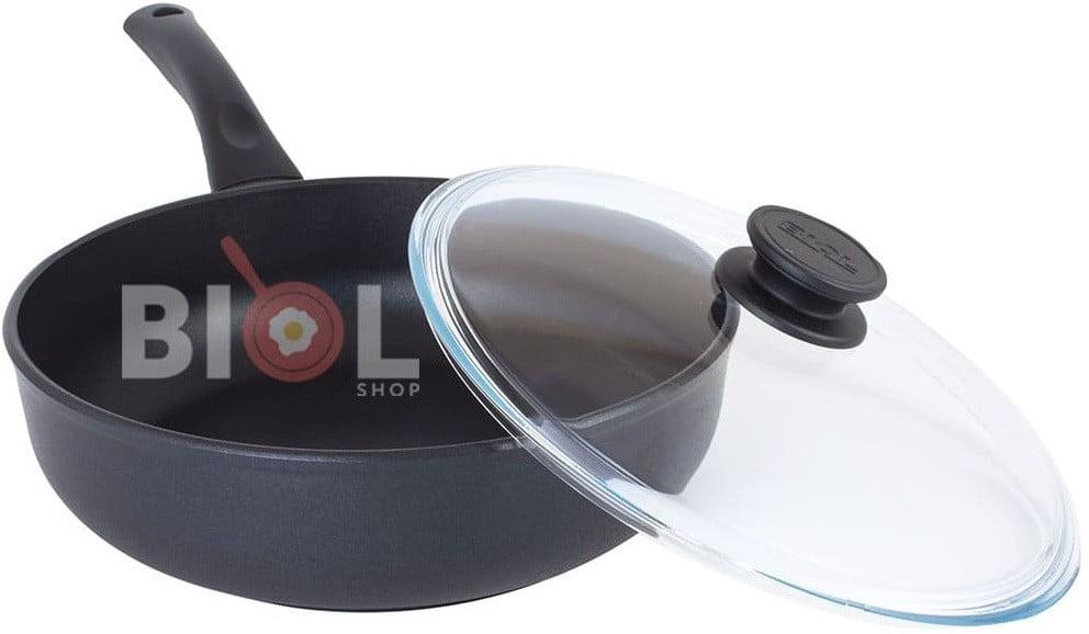 Тефлоновая сковорода с крышкой 24 см купить качественную сковородку с антипригарным покрытием