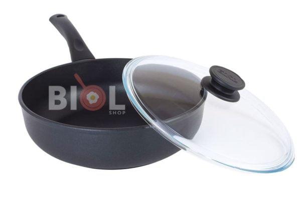 Тефлоновая сковорода с крышкой 28 см Элегант Биол