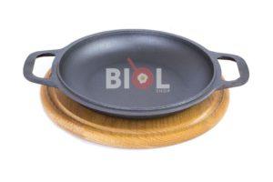 Порционная чугунная сковорода на подставке Биол 22 см