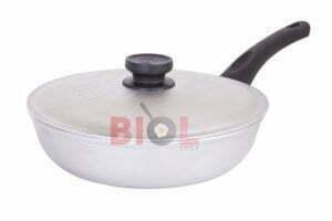 Алюминиевая сковорода Биол с крышкой и ручкой 28 см