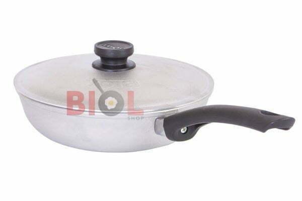 Алюминиевая сковорода 22 см Биол с ручкой и крышкой недорого