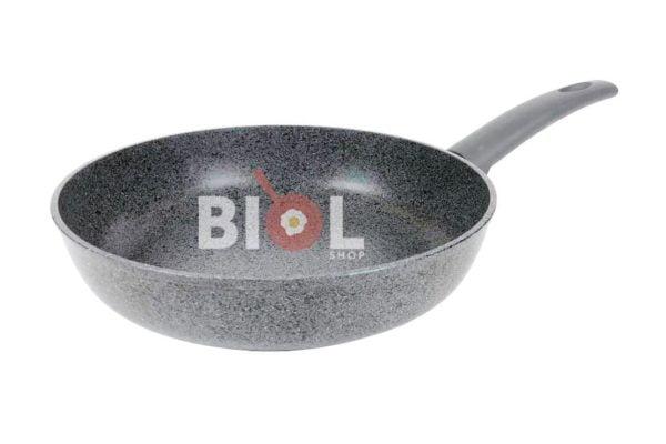 Антипригарная сковорода 26 см Гранит-Грей со стеклянной крышкой Биол купить