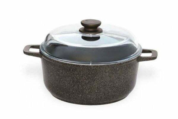 """Набор посуды Гранит браун """"Старт"""" сковорода и кастрюля (Г24ПС) купить"""