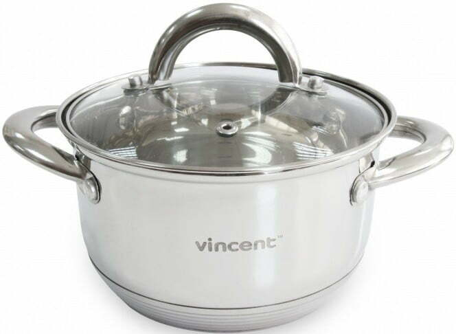Кастрюля из нержавейки толстое дно 1,9 л Vincent VC-3167-16 купить недорого онлайн