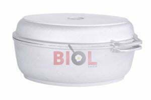 Алюминиевая гусятница с утолщенным дном и крышкой-сковородой 6 л Биол