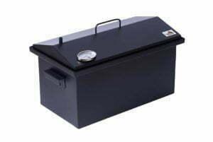 Коптильня горячего копчения 1,5 мм с термометром 520x300x310 окрашенная h-12 купить в Украине