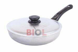 Алюминиевая сковорода Биол с ручкой и крышкой 26 см