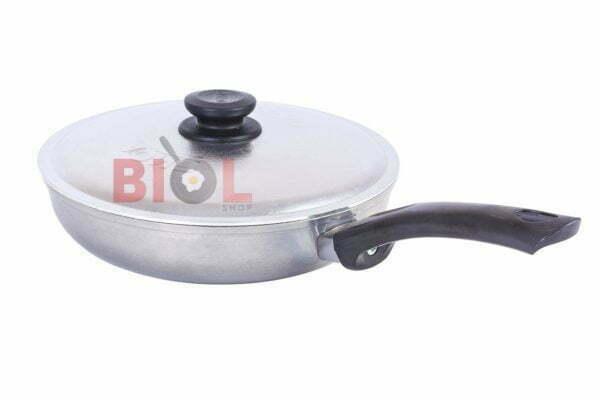 Сковорода алюминиевая с крышкой и ручкой 24 см Биол заказать дешево