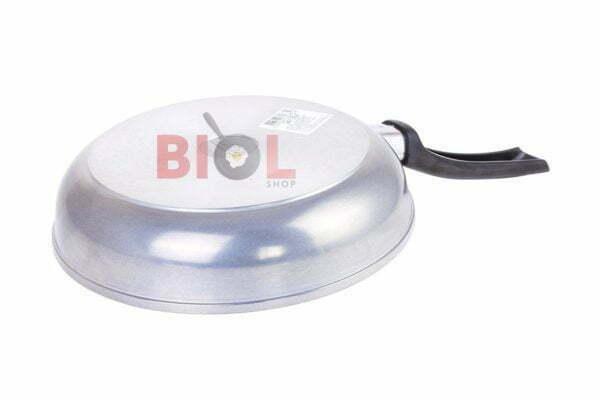 Сковорода алюминиевая с крышкой и ручкой 24 см Биол низкая цена
