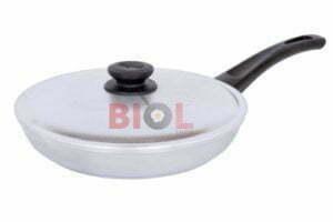 Алюминиевая сковорода Биол с крышкой и ручкой Блеск 28 см