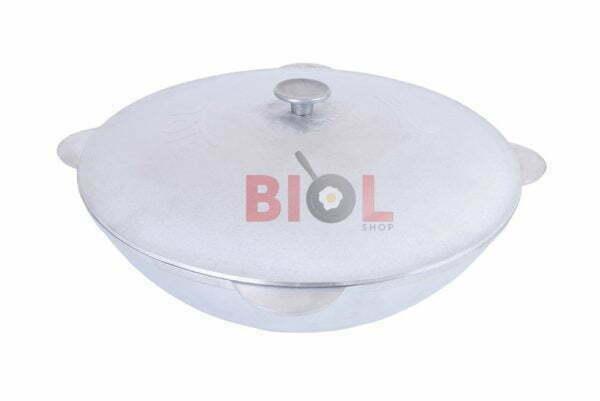 Алюминиевый татарский казан с крышкой литой Биол 4 л КТ0400