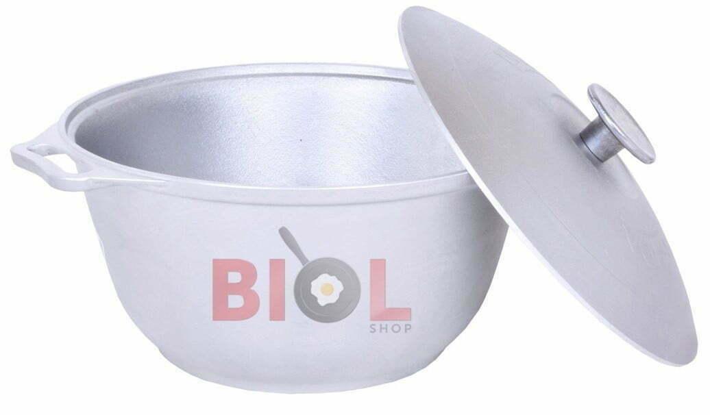 Литая алюминиевая кастрюля Биол с крышкой 2,5 л купить