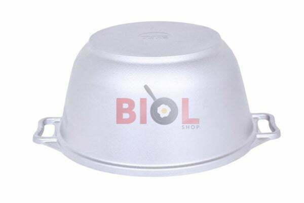 Литая алюминиевая кастрюля Биол с крышкой 2,5 л