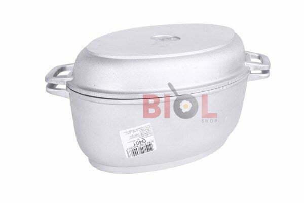 Гусятница алюминиевая и крышка-сковорода Биол 4 л Г401 купить в Украине