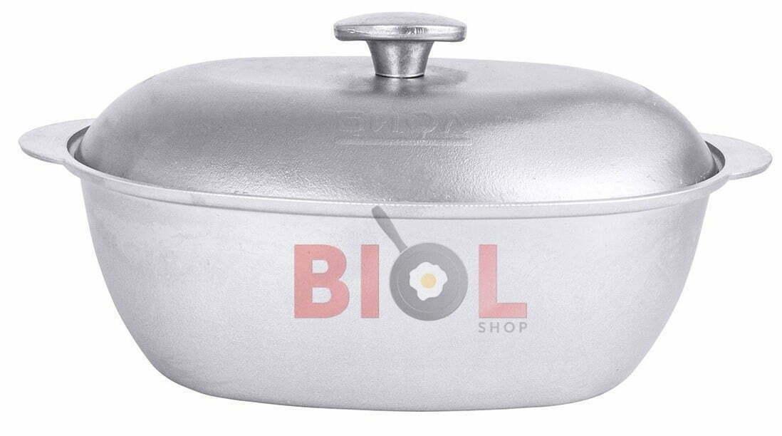 Гусятница литая алюминиевая Биол с крышкой 8 л купить