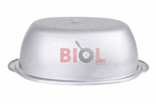 Литая гусятница с крышкой алюминиевая Биол 4 л Г0400