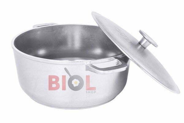 Алюминиевая кастрюля литая с утолщенным дном и крышкой 2 л Биол К201