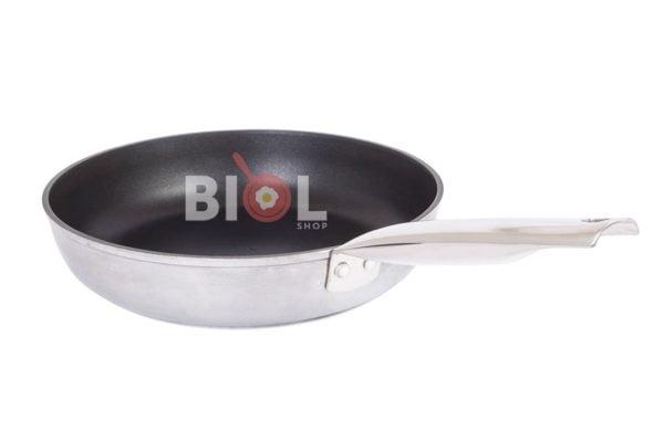 Сковорода из алюминия с нержавеющей ручкой Profi 24 см купить Украина