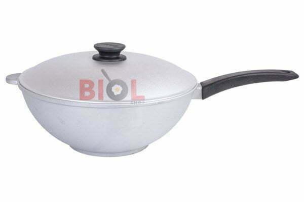 Сковорода алюминиевая WOK с крышкой 30 см Биол заказать онлайн