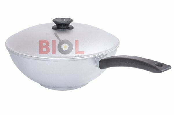 Сковорода алюминиевая WOK с крышкой 30 см Биол 3002К