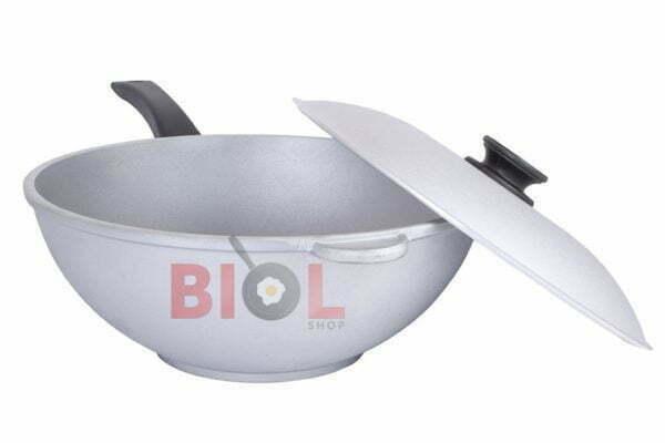 Сковорода алюминиевая WOK с крышкой 30 см Биол купить