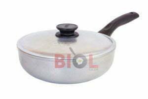 Алюминиевая сковорода сотейник с крышкой Блеск 26 см Биол