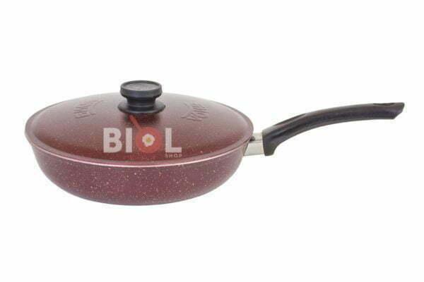 Алюминиевая сковорода Биол цветная с крышкой 20 см заказать
