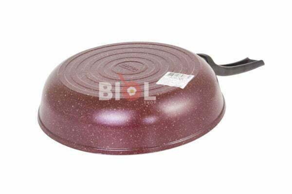 Алюминиевая сковорода Биол цветная с крышкой 20 см купить