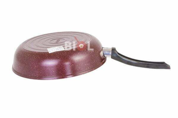 Сковорода Биол алюминиевая цветная с крышкой 20 см