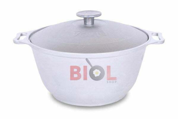 Кастрюля алюминиевая Биол литая с крышкой 4,5 л купить