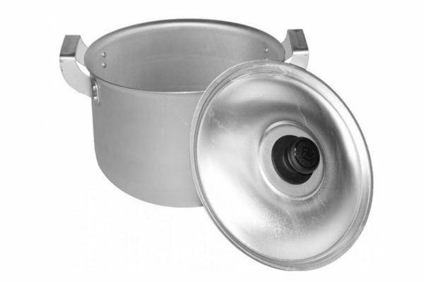 8 л литая алюминиевая кастрюля с крышкой Калитва купить недорого
