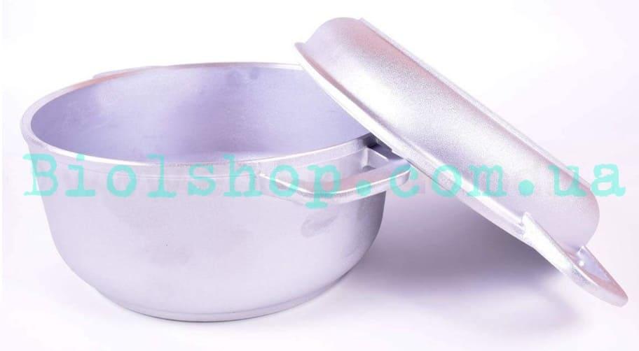 Кастрюля алюминиевая с утолщенным дном и крышкой-сковородой 7 л купить