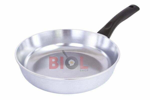 Высокая алюминиевая сковорода с крышкой Биол Блеск 20 см с доставкой